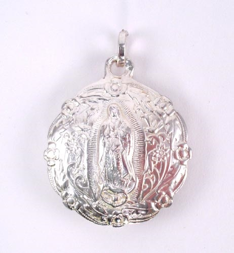 Picture of Our Lady of Guadalupe Medal Pewter Medal - 2&quot; H x 1 3/4 W (inflated shaped)&nbsp;- Item No.&nbsp;61049