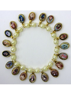 Picture of Religious Bracelet - Virgin Mary & Saints Bracelet with religious medals - Item No. 62001
