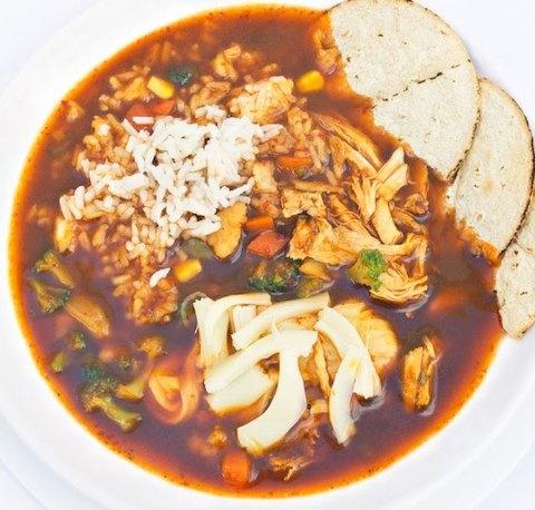 Picture of Tlalpeno Soup - Caldo Tlalpe�o Authentic Mexican Recipe- Item No.627-caldo-tlalpenon