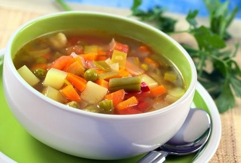 Picture of Vegetable Soup - Sopa de Verduras Mexican Recipe - Item No. 637-vegetable-soup