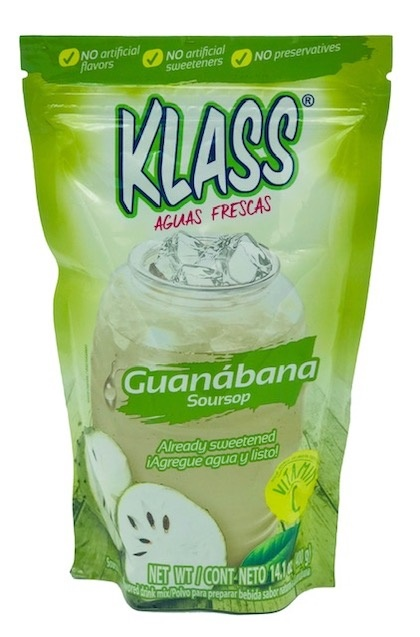 Picture of Guanabana Drink Mix - KLASS LISTO Agua de Guanabana  - 14.1 oz&nbsp;- Item No.&nbsp;6464