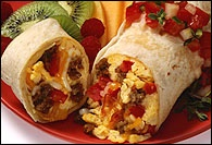 Picture of Breakfast Burrito Mexican Recipe - Item No. 66-breakfast-burrito-1