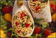 Picture of Mediterranean Salad Roll-Up Recipe - Item No. 67-miditerranean-salad-rollup