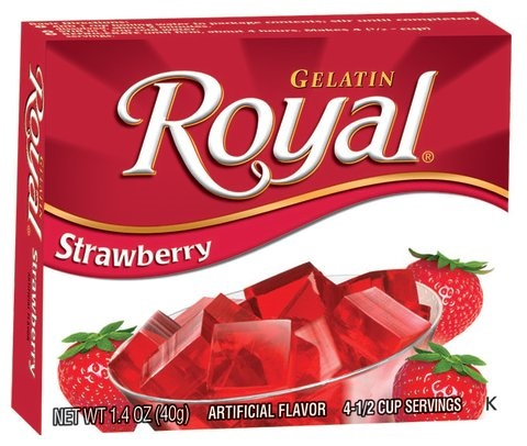 Picture of Royal: Fresca-Strawberry Gelatin (2.8 oz) pack of 3 - Item No. 72392-01072