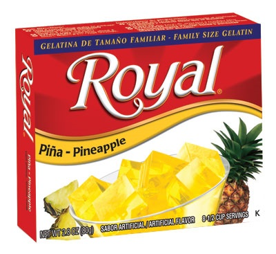 Picture of Royal: Fresca-Pineapple Gelatin (2.8 oz) pack of 3 - Item No. 72392-01078