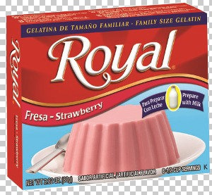 Picture of Royal Strawberry Gelatin with milk (2.8 oz) Pack of 3 - Item No. 72392-01182