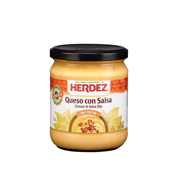 Picture of Queso Dip Cheese with Salsa by Herdez - Item No. 72878-07153