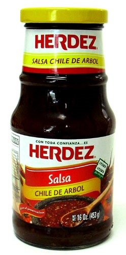 Picture of Herdez Salsa Chile de Arbol 16 oz - Item No. 72878-27582