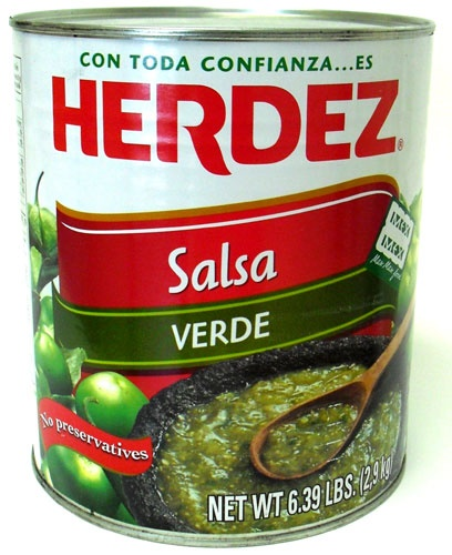 Picture of Salsa Verde Herdez (102 oz) #10 can - Item No. 72878-52982