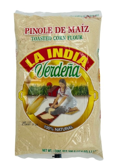 Picture of Pinole de Maiz - Toasted Corn Pinole 100% Natural by La India Verdena - 17.6 oz - Item No. 73440-00008