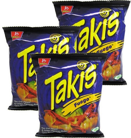 Picture of Takis Fuego Hot Chili Pepper & Lime Flavored Rolled Corn Tortilla Minis by Barcel - Item No. 74323-02753