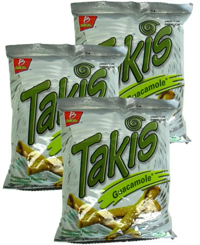 Picture of Takis Guacamole Flavored Rolled Tortilla Minis 4 oz (Pack of 3) - Item No. 74323-03159