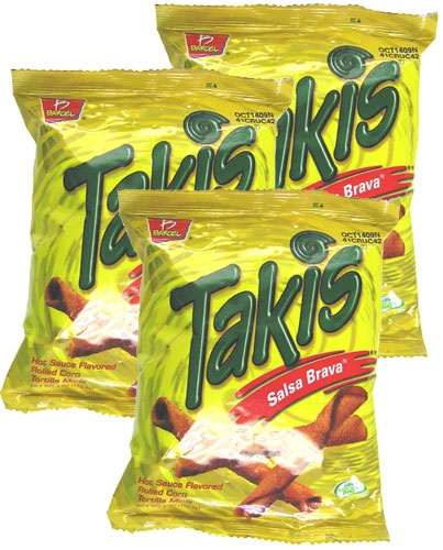 Picture of Takis Salsa Brava Hot Sauce Flavored Rolled Corn Tortilla Minis by Barcel - Item No. 74323-03346