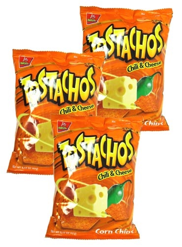 Picture of Barcel Tostachos Chili & Cheese Corn Chips 3.17 oz Pack of 3 - Item No. 74323-04358