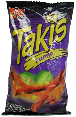 Picture of Takis Fuego Hot Chili Pepper & Lime Flavored Rolled Tortilla Minis 9.88 oz - Item No. 74323-07819