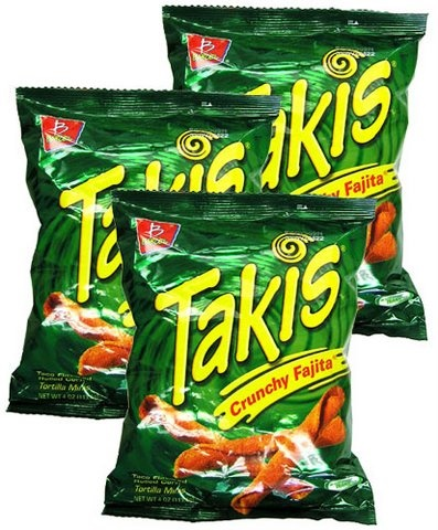 Picture of Takis Crunchy Fajita Taco Flavored Rolled Corn Tortilla Minis by Barcel 4oz (Pack of 3) - Item No. 74323-07833