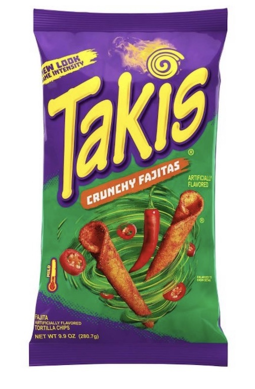Picture of Takis Fuego Original Crunchy Fajita Taco Flavored Rolled Corn Tortilla Minis 9.88 oz - Item No. 74323-09632