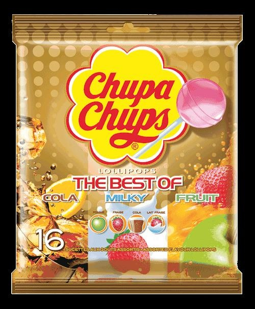 Picture of The Best of Chupa Chups Lollipops (10 count gold bag) Pack of 3- Item No.76350-61558