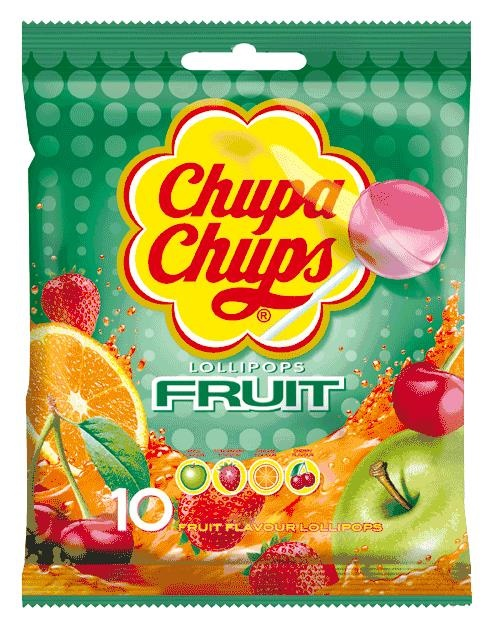 Picture of Chupa Chups Fruit Flavor Lollipops (12 count bags) Pack of 3- Item No.76350-61559