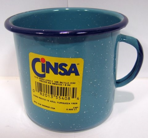 Picture of Enamel Cookware - Vaso Recto Peltre #10 / Enamel Cup #10 by CINSA - Item No. 82013-55408
