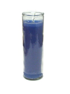 Picture of Blue Candle 7-Day Candle 15 oz. - Item No. 8325