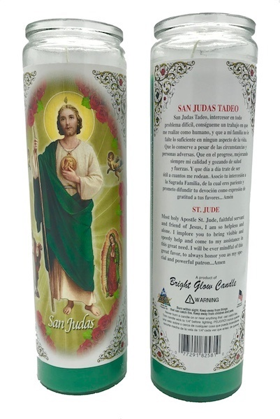 Picture of St Jude Thaddeus - 7 Day San Judas Tadeo Candle 7 Day - Item No. 8560