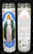 Picture of Miraculous Mother  Candle 15 oz. - Item No. 8575