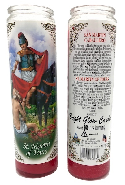 Picture of 7 Day San Martin Caballero Candle - Veladora San Martin - Item No. 8579