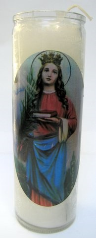 Picture of 7 Day Santa Barbara Candle - Veladora Santa Barbara&nbsp;- Item No.&nbsp;8581