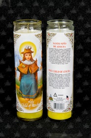Picture of The Holy Child of Atocha  Candle (Pack of 6) - Item No. 8585