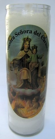 Picture of 7 Day Nuestra Senora del Camen Candle - Veladora Virgen del Carmen - Item No. 8586