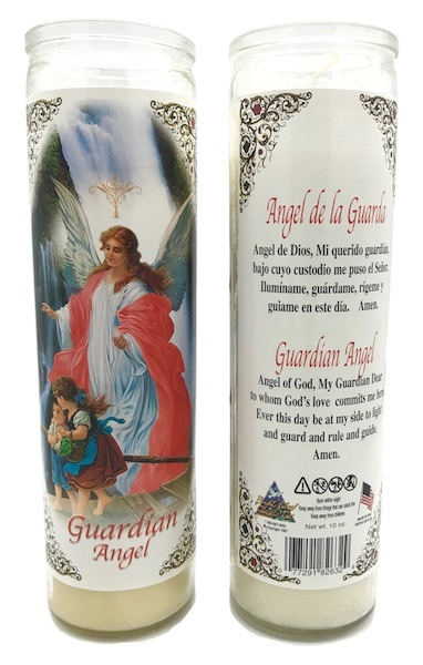 Picture of Angel de la Guarda Veladora - Guardian Angel Candle (Pack of 6) - Item No. 8588