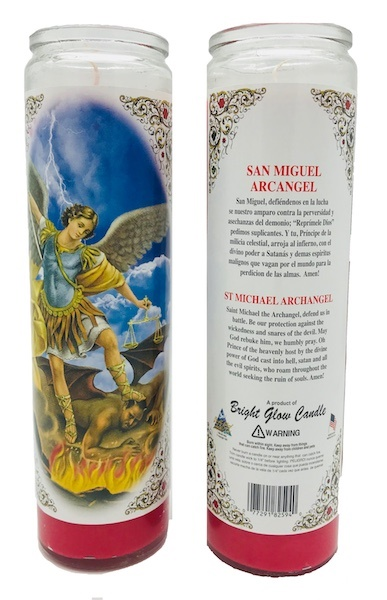 Picture of Saint Michael Archangel Candle 15 oz.&nbsp;- Item No.&nbsp;8590