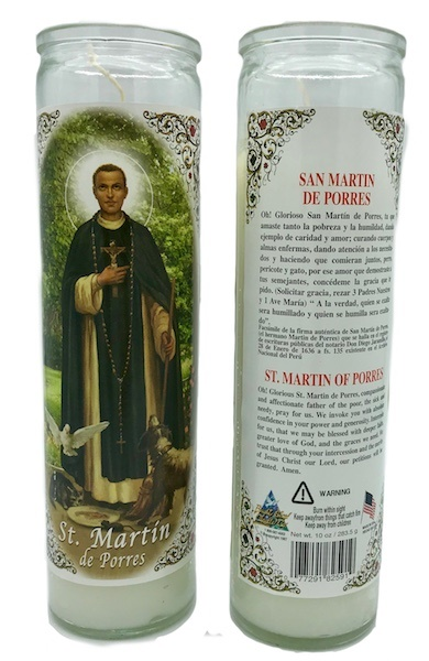 Picture of 7 Day San Martin de Porres Candle - Veladora San Martin&nbsp;- Item No.&nbsp;8592