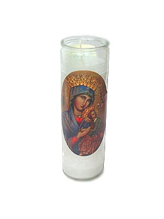 Picture of Our Lady of Perpetual Help Candle 15 oz. - Item No. 8596