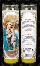 Picture of Saint Joseph Candle - Veladora de San Jose&nbsp;- Item No.&nbsp;8597