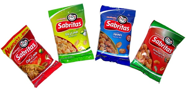 Picture of Sabritas Peanuts 4 pack Sampler (7 oz each) 28 oz - Item No. 86700-4pack