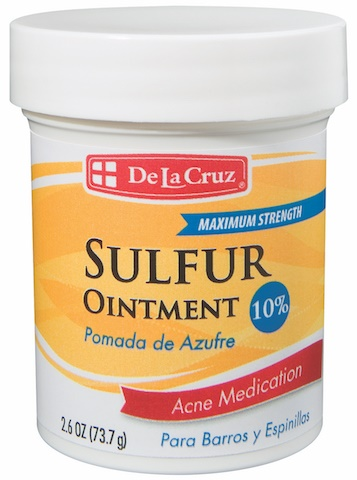 Picture of Pomada de Azufre - Sulfur Ointment by De La Cruz 2.6 OZ - Item No. 87331