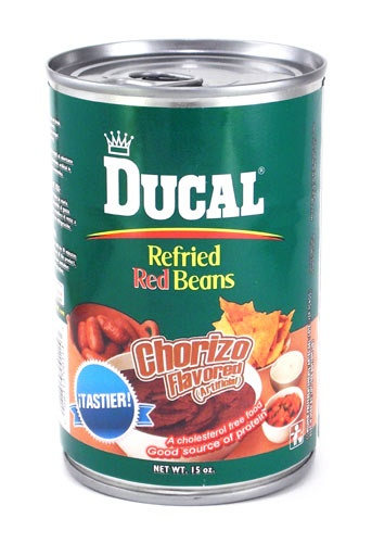 Picture of Ducal Red Refried Beans with Chorizo 15 oz - Item No. 88313-00114