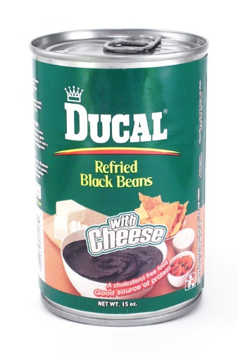 Picture of Ducal Black Refried Beans with Cheese 15 oz - Item No. 88313-00115