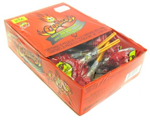 Picture of Indy Cerillos Spicy and Sour Candy Watermelon Lollipop 20 pieces&nbsp;- Item No.&nbsp;90203-01006