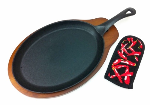 Picture of Cast Iron Fajita Platter Set- Item No.9113
