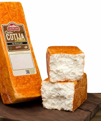 Picture of Queso Cotija Enchilado Los Altos (Aged Cheese with Chile) 5 LB Random - Item No. 91155-14306