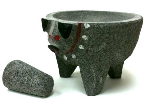 Picture of Pig Head Molcajete (Stone Bowl) - Item No. 9123