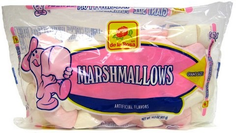 Picture of De la Rosa Pink and White Marshmellows 14.5 oz - Item No. 9270