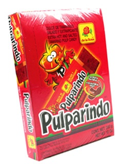 Picture of Pulparindo Extra Hot and Salted Tamarind Pulp Candy - 20 pieces - Item No. 9350