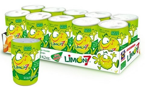 Picture of Limon 7 (Salero) Salt and Lemon Powder (10 pack) 6.3oz - Item No. 95600-00241