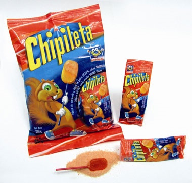Picture of Chipileta Orange Lollipop and Hot Candy Powder (30 ct) 11.6oz - Item No. 95600-00267