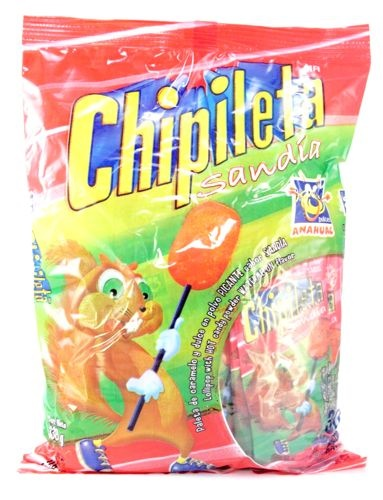 Picture of Chipileta Watermelon Lollipop and Hot Candy 30 ct&nbsp;- Item No.&nbsp;95600-00273