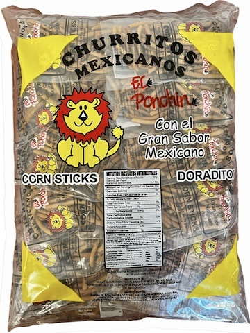 Picture of Churritos de Maiz Cristina - Crispy Corn Sticks 24 Bolsas - Item No. 9590